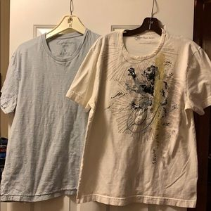 White and blue Calvin Klein T-Shirts